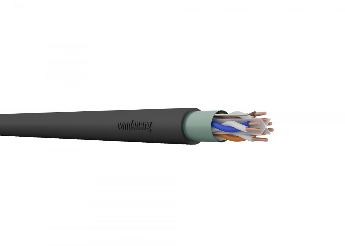 CONDEFLEX Cat6 F/UTP 4x2xAWG23 350 MHz PE Fca